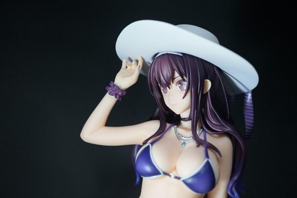 イラストのモデリングに使える冴えカノ霞ヶ丘詩羽のセクシー水着のフィギュア